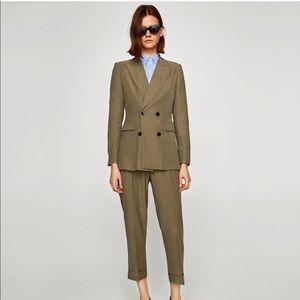 Zara khaki suit! Olive green color